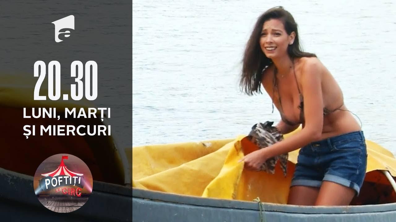 Poftiți la Circ | Iuliana Luciu face spectacol pe barcă. A renunțat încetul cu încetul la haine