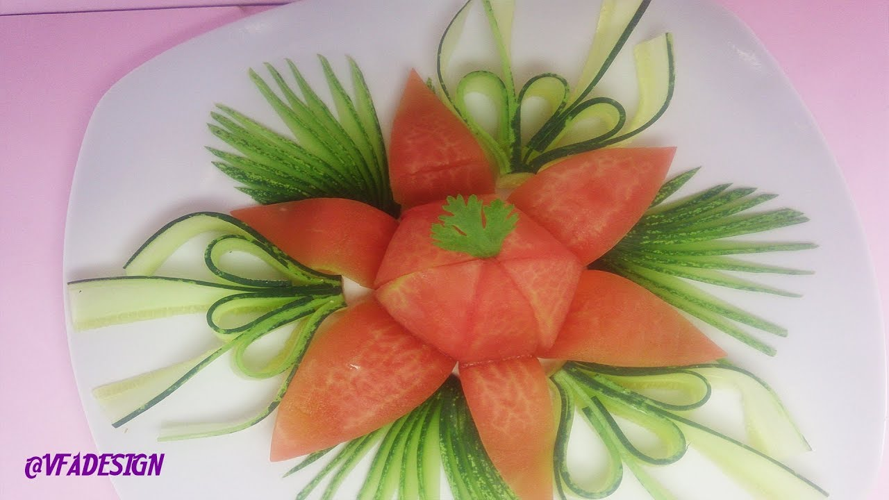 Vegetable Carving With Tomato Beautiful tomat...