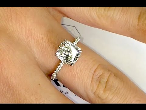 2.50 ct Cushion Cut Diamond Engagement Ring
