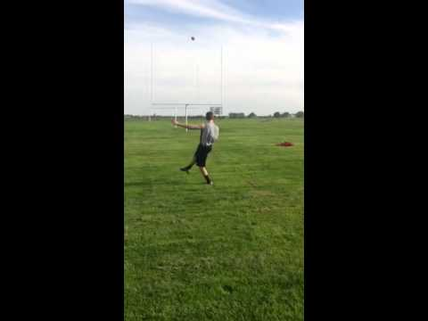 Nick Candre 35 yard field goal. St charles East high school kicker (sophomore)