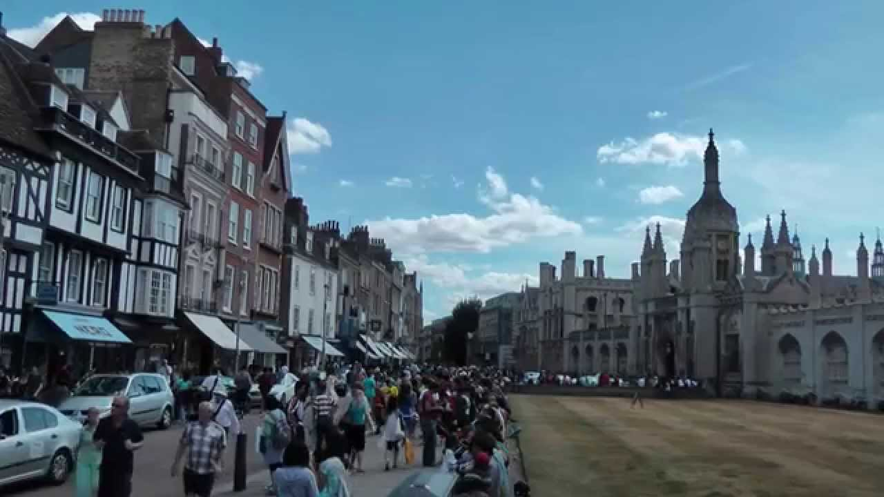 Cambridge Uk Trumpington Street To Market Hill Youtube