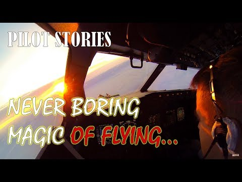 Why do airline pilots enjoy their dull jobs? This video can give the answer.