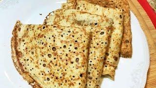 БЛИНЧИКИ ДИЕТИЧЕСКИЕ  НЕЖНЫЕ без муки, молока и разрыхлителя. Pancakes Without Flour