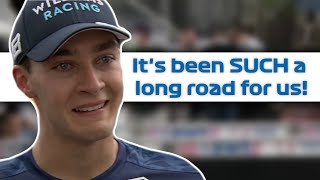 FULL George Russell crying interview after first points for Williams #shorts