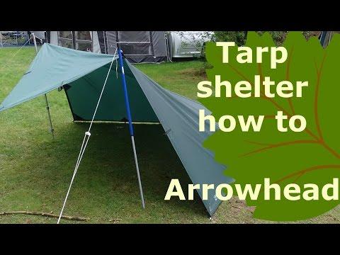 tarp shelter how to: arrowhead bushcraft pitch