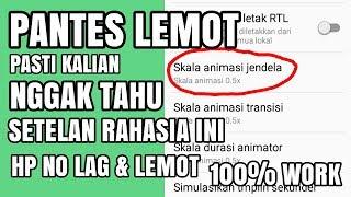 Cara agar tab advan vandroid gak lemot/lola 100% working.