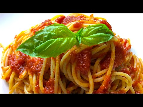 Italian spaghetti with tomato and basil sauce - Cooking Simple Recipes