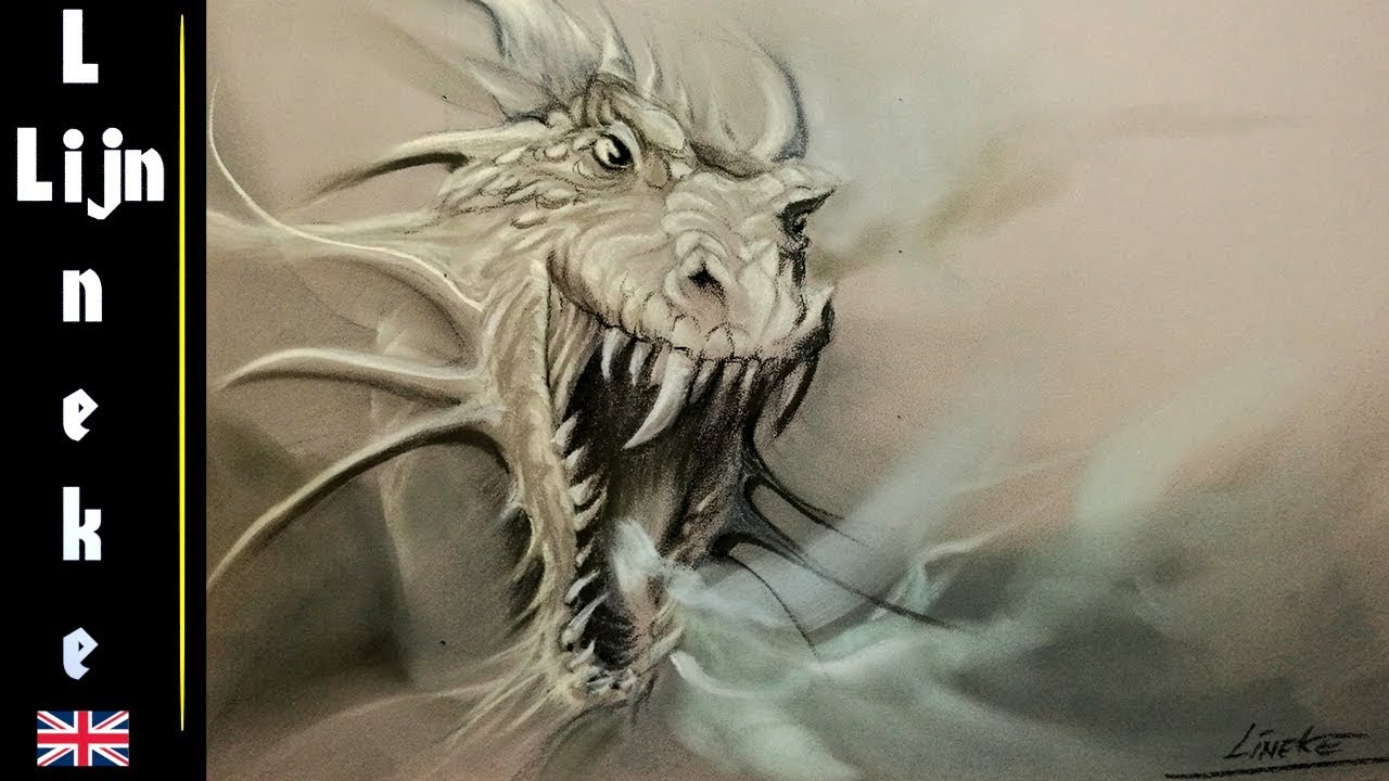 Easy DRAGON for beginners Pastel drawing  YouTube