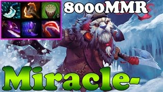 Dota 2 - Miracle- 8000MMR Plays Tusk vol 3 - Ranked Match Gameplay