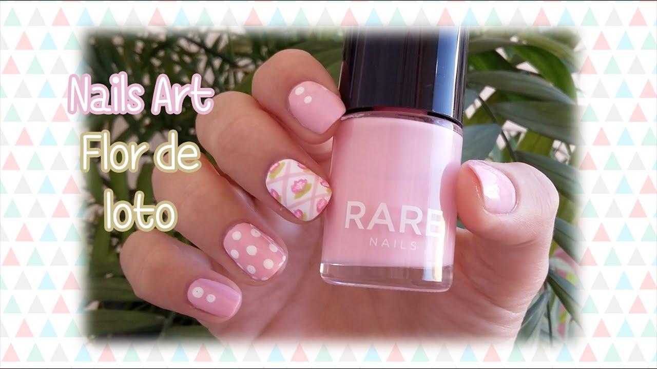Nails art lotus flower flor de loto youtube nails art lotus flower flor de loto dhlflorist Image collections