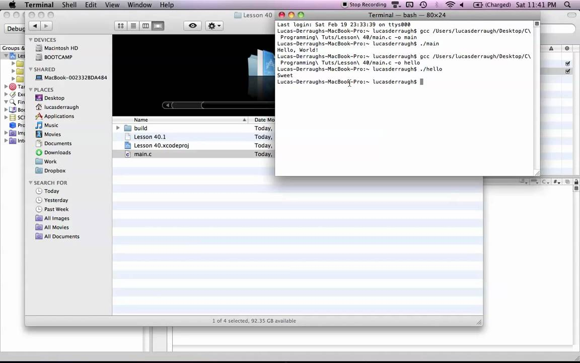 C Programming on the Mac L40 - Running C Programs in Terminal