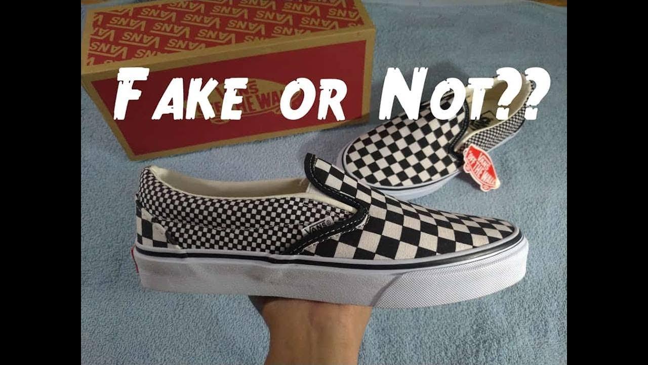 Vans Slip On Checkerboard    FAKE or