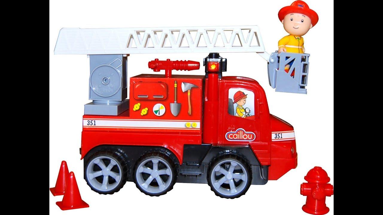 Caillou camion de pompiers avec des lumi res et des sons jouet enfants youtube - Camion de pompier enfant ...
