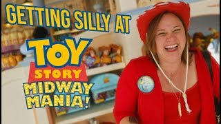 Toy Story Midway Mania + It gets silly | Disneyland Vlog 2019-03-23 Pt. 1