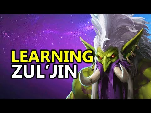 ♥ TRYING To Learn Zul'jin - Heroes of the Storm (HotS Gameplay)