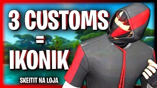 🔴 FORTNITE-WIN 3 CUSTOMS AND WIN IKONIK & NEW SKIN TROLL!! SKEIAT IN STORE!!