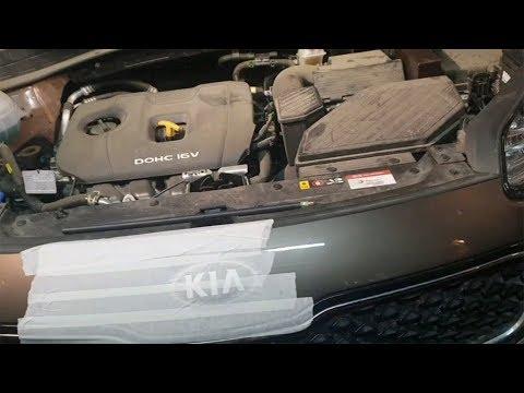 Kia Sportage - вскрытие замка капота