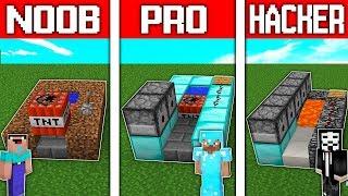 Minecraft Battle: NOOB vs PRO vs HACKER: SUPER TNT CANNON CHALLENGE in minecraft / Animation