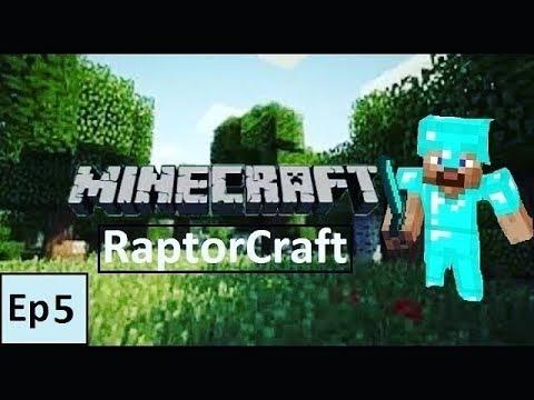 Minecraft: RaptorCraft - Episode 5 - Creating a farm (Survival Gameplay)