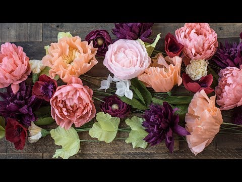 How To Make Crepe Paper Flowers 101 (part 2)