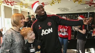 José Mourinho and his first-team players attend a special Christmas...