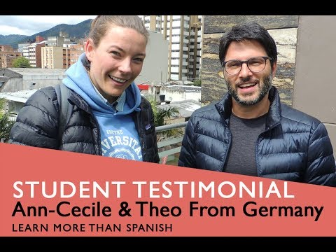 General Spanish Course Student Testimonial by Theo & Ann-Cecile from Germany
