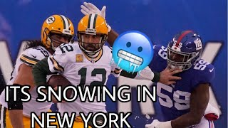 It's Snowing in New York!! ❄️ {Green Bay Packers vs New York Giants WEEK 13 HIGHLIGHTS}  12•1•19 