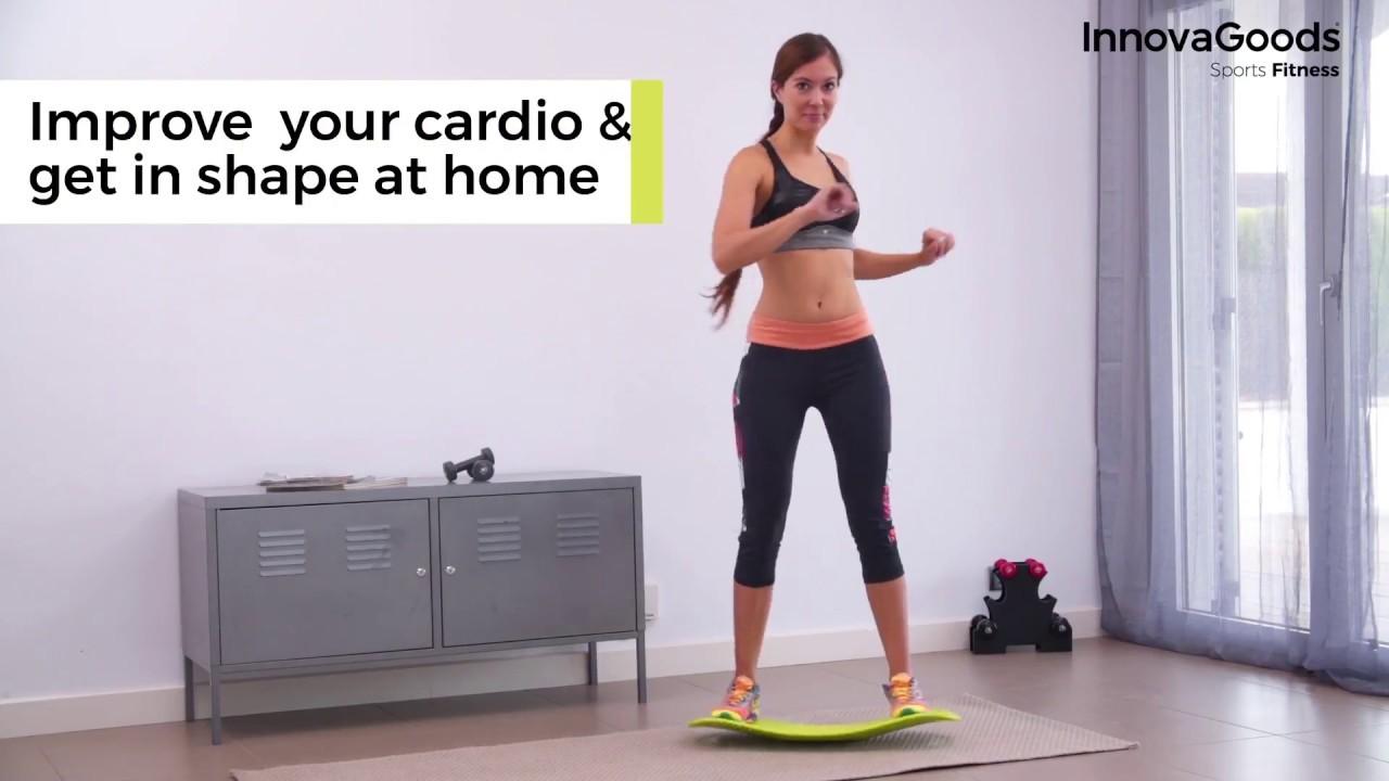 InnovaGoods Gleichgewichtsbrett mit Übungsguide Fitness Balance Board Kleingeräte & Zubehör