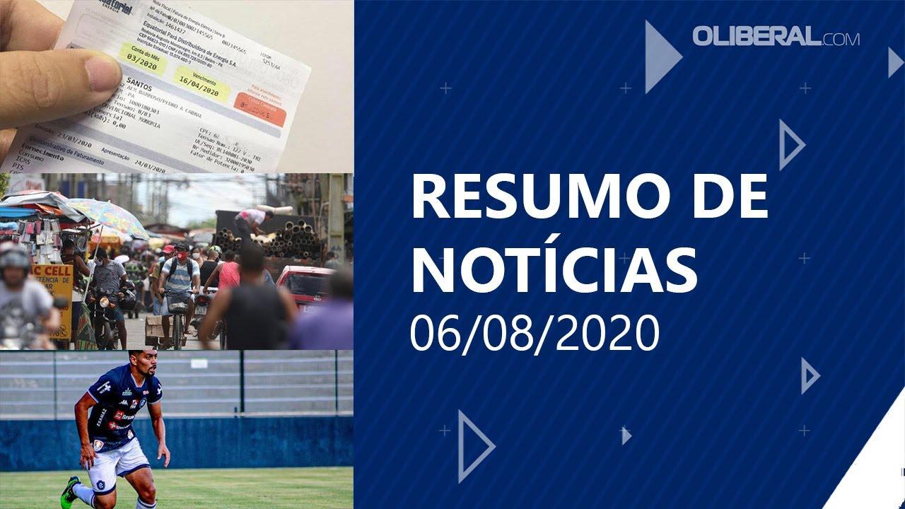 Pará ocupa 1º lugar na redução de novos óbitos por covid-19 | Resumo de Notícias 06/08/2020