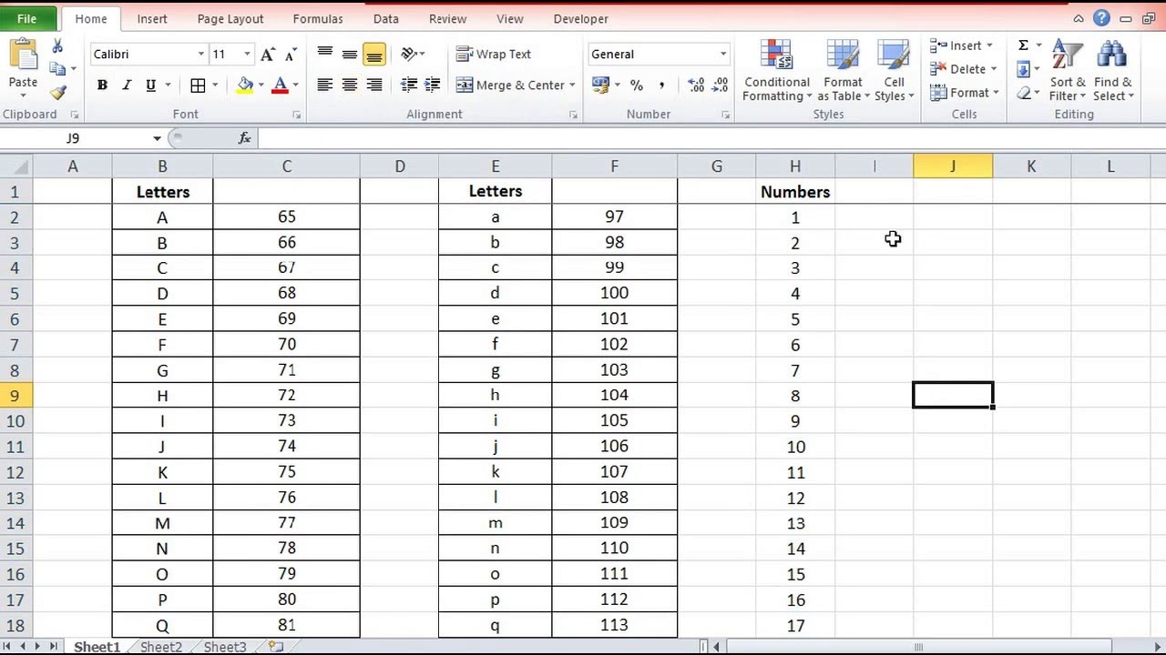 convert number to letters and letters to numbers by code function and char function