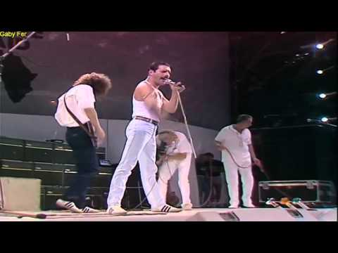 Queen We Are The Champions Live Aid  (Subtitulado Al Español).[HD]
