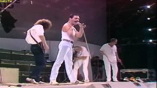 Queen We Are The Champions Live Aid  (Subtitulado Al Español).[HD]