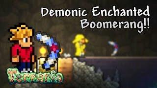 Terraria Let's Play - Demonic Enchanted Boomerang [9]