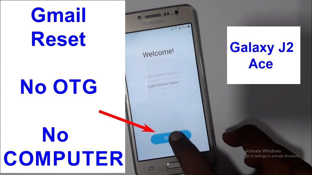 Samsung Galaxy J2 Ace G532G Id Reset frp