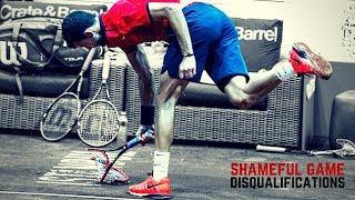 Tennis. Disqualifications - Angry Moments