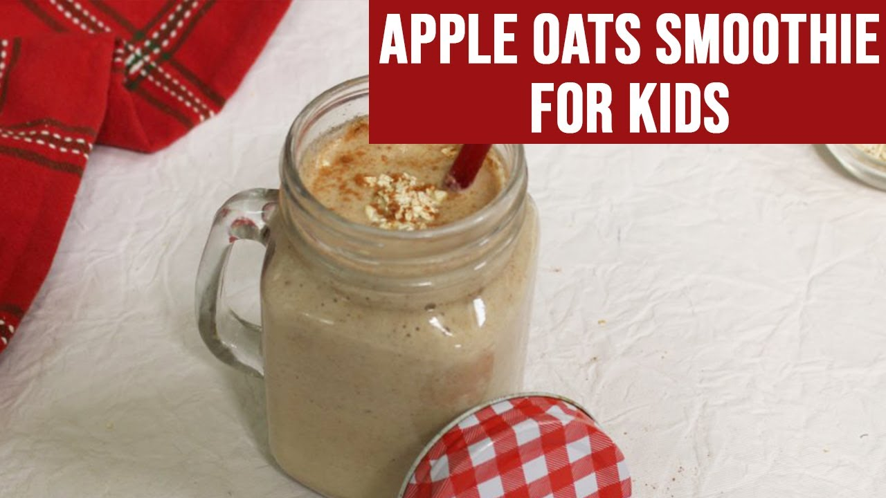 Apple Oats Dates Smoothie [Homemade Easy Smoothies Recipe for Kids]