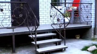 Как сделать крыльцо из металла в частном доме ,веранда конструкция(, 2016-10-10T09:36:46.000Z)