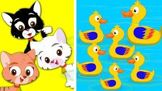 Wheels On The Bus Three Little Kittens Five Little Ducks Nursery Rhymes kids tv