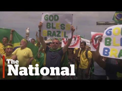 Massive demonstrations in Brazil