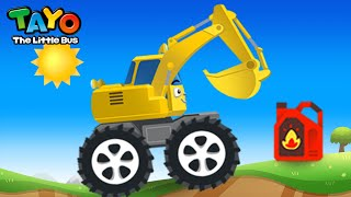 Poco the Excavator takes a HUGE role when he's on construction sites. He helps to dig ground and also can move stuff too! But, how does he repair his car par...