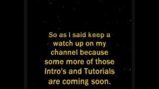 Star Wars Intro Done In Blender and Windows Movie Maker