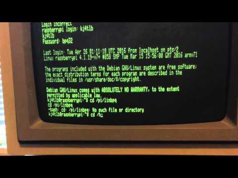 Apple II Testing Linux BPQ32 Packet radio BBS for the Rasberry PI Ham Radio