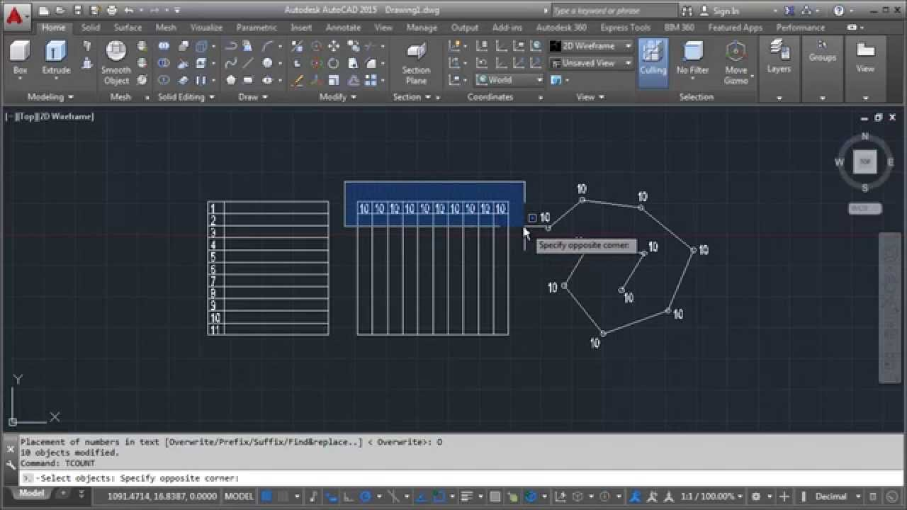 Create Sequentially Numbered In Autocad   Tips