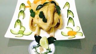 Steamed Chicken With Kaffir Lime Leaf And Lemon Grass | Gà Hấp Lá Chanh Và Sả