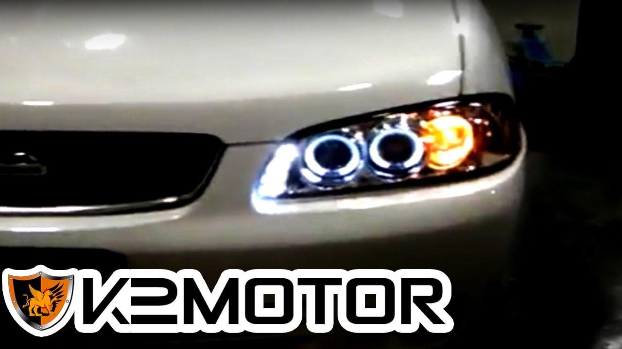 K2 Motor Installation Video 2000 2003 Nissan Sentra Projector Headlights You
