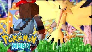 Minecraft: Pokemon Ruby - Zapdos O Lendario Pássaro Elétrico !!! #168