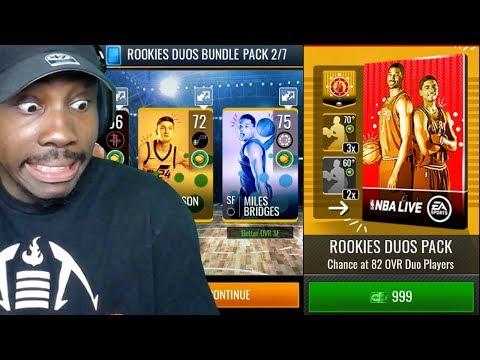 ROOKIES DUOS BUNDLE PACK OPENING! NBA Live Mobile 19 Season 3 Gameplay Ep. 5