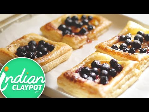 Crispy Blueberry Puff Pastry Tarts Recipe The Indian Claypot