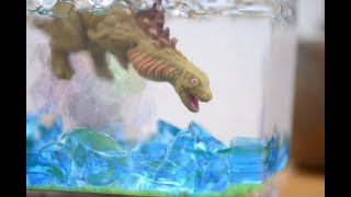 My cute aquarium.Breeding Godzilla.[stopmotion/miniatures]