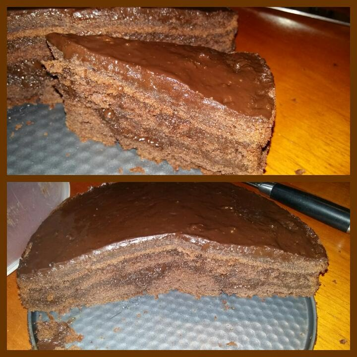 Schokoladig Schokokuchen Kuchen Sehr Leicht Schoko Sosse Schoko